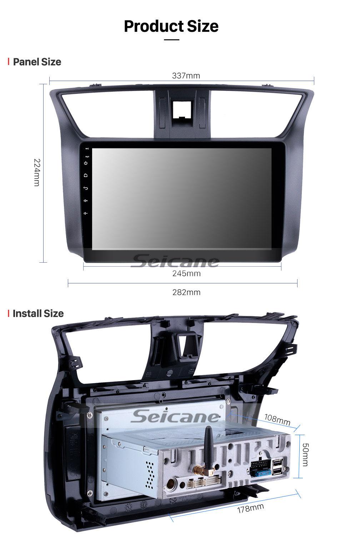 Seicane 10,1-дюймовый HD сенсорный экран GPS-навигатор Штатная магнитола android 9.0 2012-2016 Nissan Sylphy Bluetooth Радио Автомобильная поддержка стерео музыки 4G WIFI OBD2 Камера заднего вида Управление рулевого колеса