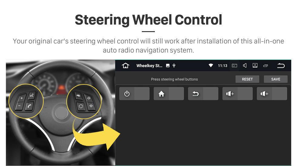 Seicane 9 pouces Quad-core Android 9.0 2011-2016 Renault Captur CLIO Samsung QM3 Manual A/C Mirror Système de navigation GPS Duster Aftermarket Radio OBD2 4G WIFI Lien Bluetooth DVR 4G WIFI (Manuel climatisation)