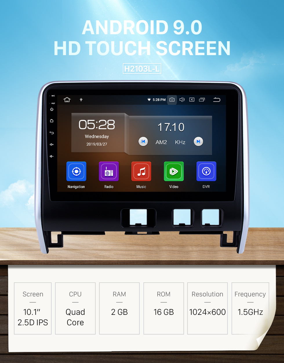 Seicane Aftermarket Android 9.0 HD Touchscreen 10.1 inch Radio for 2016 2017 2018 Nissan Serena Bluetooth GPS Navigation Head unit support 3G/4G wifi DVD Player Carplay 1080P