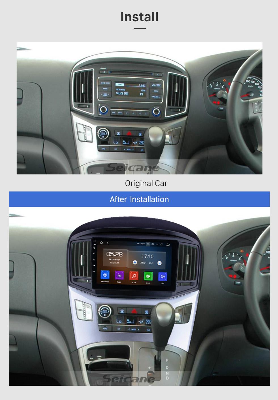Seicane OEM 9 pouces Android 9.0 Radio pour 2016 2017 2018 Hyundai Starex H1 Wagon Bluetooth Unité de navigation GPS Unité principale HD Écran tactile 1080p vidéo Volant Lecteur DVD Carplay 3G WIFI