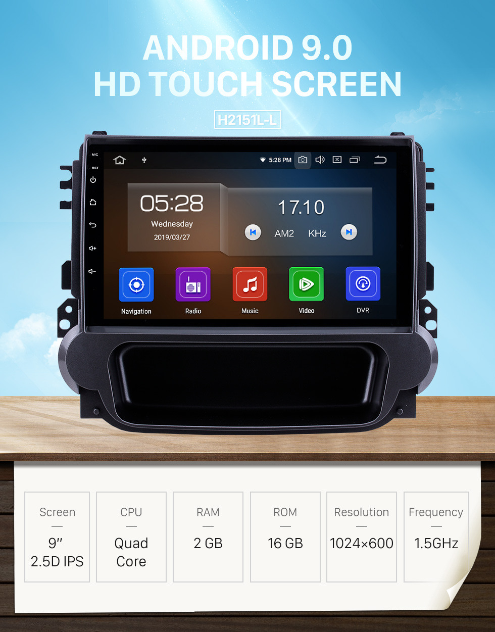 Seicane 9 inch Android 9.0 2012 2013 2014 Chevy Chevrolet Malibu Radio GPS HD 1024*600 Touchscreen Bluetooth OBD2 Backup camera digital TV 4G WIFI Steering Wheel Control Mirror Link