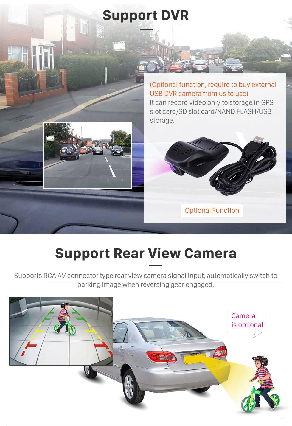 Seicane 9 pulgadas Android 8.1 2011-2016 Renault Captur CLIO Samsung QM3 Manual A / C Navegación GPS Sistema de audio para automóvil Pantalla táctil AM Radio FM Música Bluetooth 3G WiFi OBD2 Enlace de espejo AUX Cámara de respaldo USB SD 1080P Video