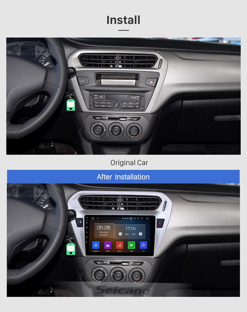 Seicane 9 Zoll 2013 Peugeot 301 Citroen Citroen Citroen Citroen Citroen C-Elysee Android 9.0 Radio GPS HD 1024 * 600 Touchscreen 4G WIFI Lenkrad OBD2 RDS Steuerspiegel Link Bluetooth