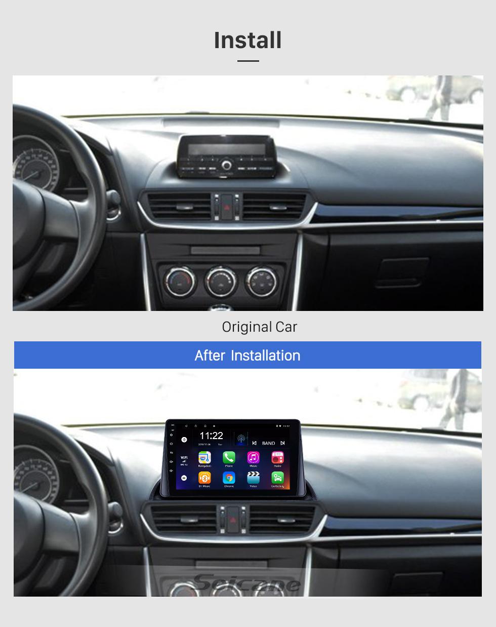 Seicane 9 pulgadas 8 Núcleo Android 8.1 2014 2015 2016 2017 MAZDA CX-4 Radio Sistema de navegación GPS con pantalla táctil de alta definición USB 3G WIFI Bluetooth Soporte de música OBD2 Mirror Link Digital TV