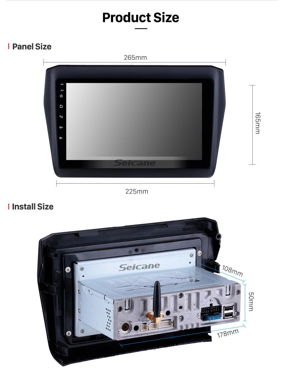 Seicane 2017-2019 SUZUKI Swift 9 Zoll Android 9.0 HD Touchscreen Auto Stereo GPS-Navigationssystem Radio Bluetooth WIFI USB Unterstützung DAB + OBDII SWC