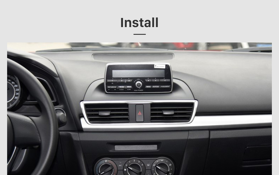 Seicane 2014 2015 Mazda 3 Axela 9 pulgadas Android 8.1 HD Pantalla táctil Navegación GPS Radio 3G WIFI Bluetooth compatible SWC DVR OBD Carplay