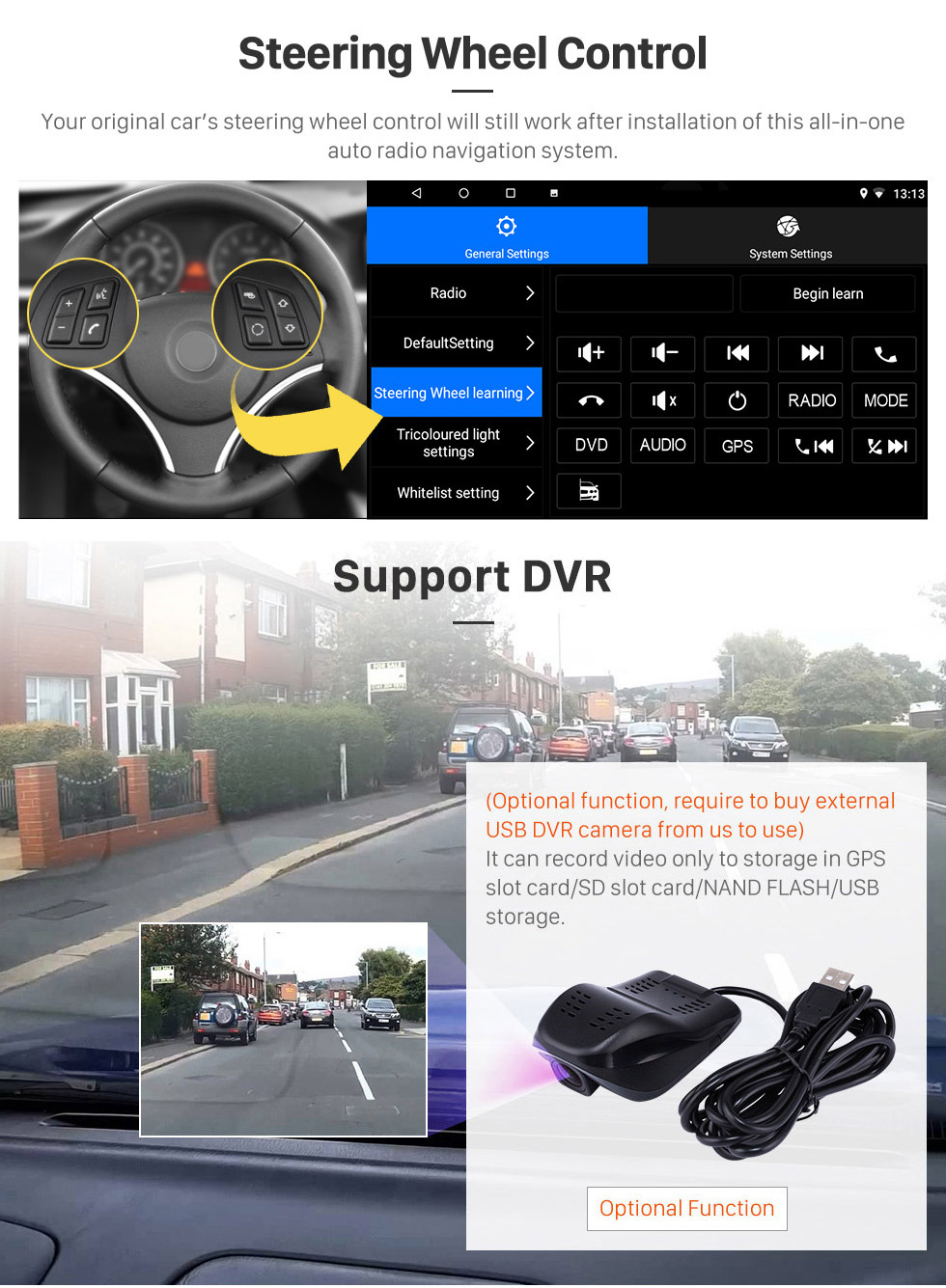 Seicane Écran tactile HD 9 pouces Android 8.1 Radio de navigation GPS pour 2011-2016 Lifan X60 avec support Bluetooth USB WIFI AUX DVR Carplay SWC 3G caméra de recul