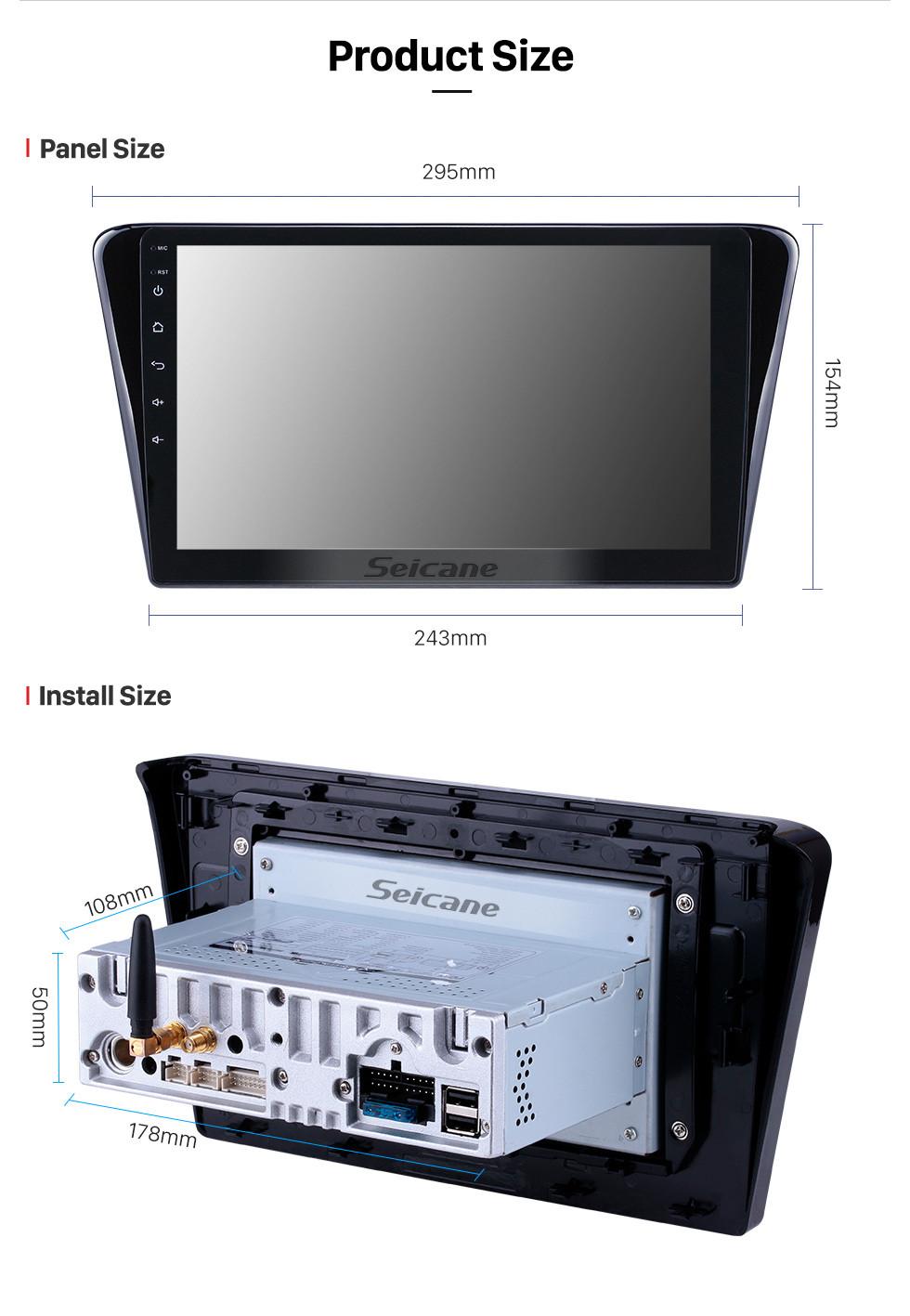 Seicane HD-Touchscreen 10,1 Zoll Android 9.0 GPS-Navigationsradio für 2014 Peugeot 408 mit Bluetooth Wifi USB Carplay-Unterstützung DVR DAB + Lenkradsteuerung