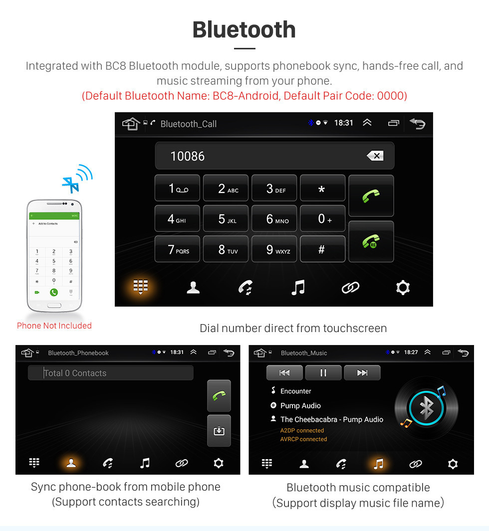 Seicane 10.1 inch HD Touch Screen for 2008-2015 Mitsubishi Lancer-ex Radio Android 8.1 GPS Navigation with WiFi Bluetooth Music USB support Carplay Mirror Link TPMS DVR