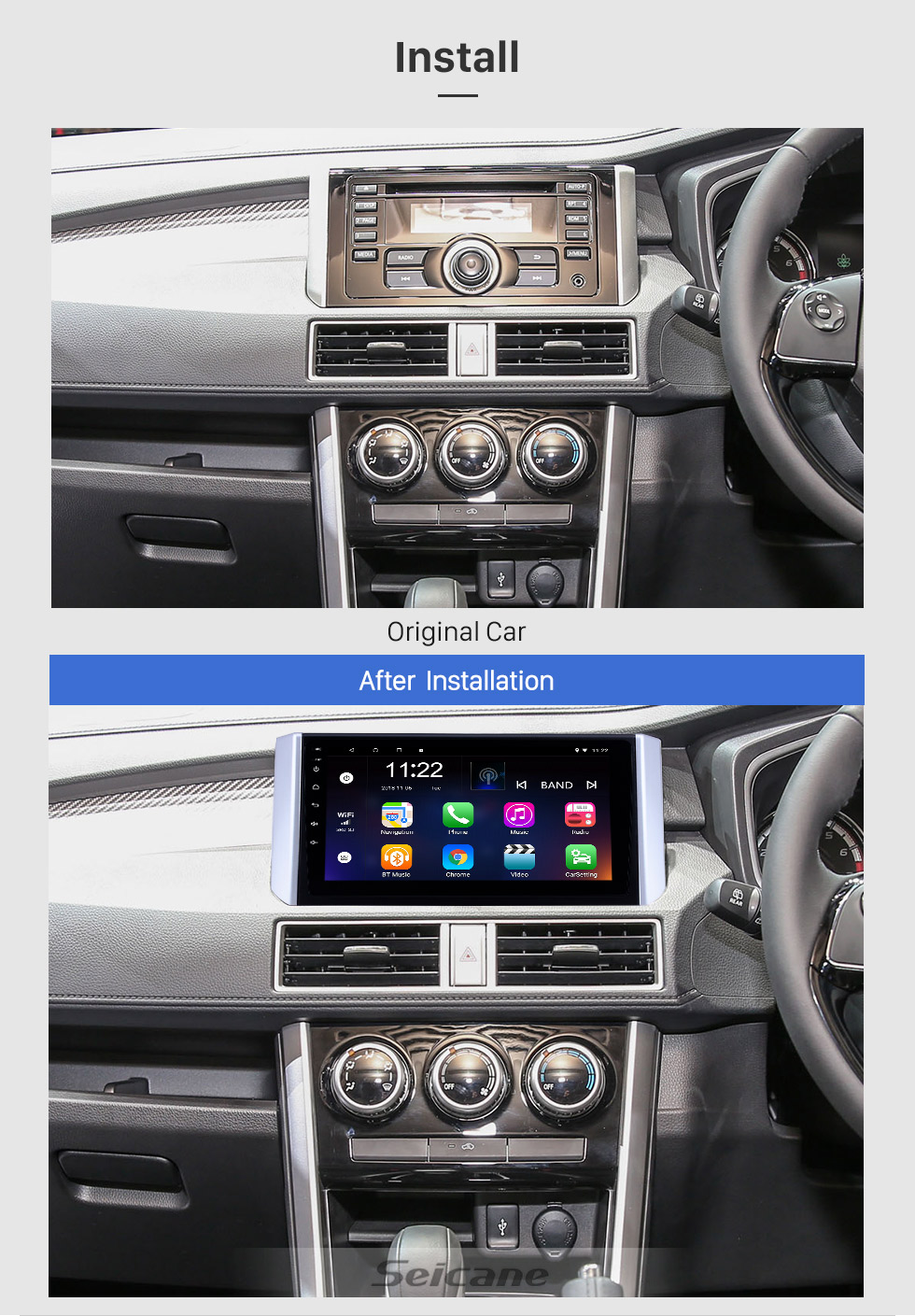 Seicane 2017-2018 Mitsubishi Xpander 9 Zoll Android 8.1 HD Touchscreen Bluetooth GPS Navigation Radio USB AUX Unterstützung Carplay 3G WIFI Mirror Link TPMS