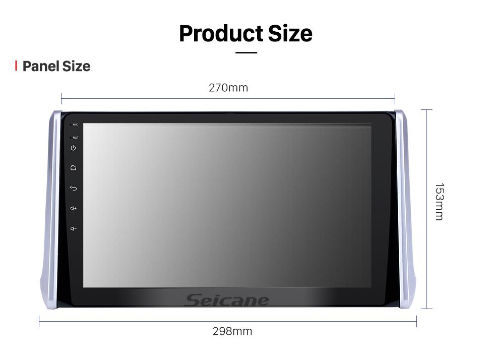 Seicane 10,1 pouces Android 8.1 HD Radio tactile Navigation GPS pour 2019 Toyota RAV4 avec support Bluetooth USB WIFI AUX Carplay caméra arrière OBD TPMS
