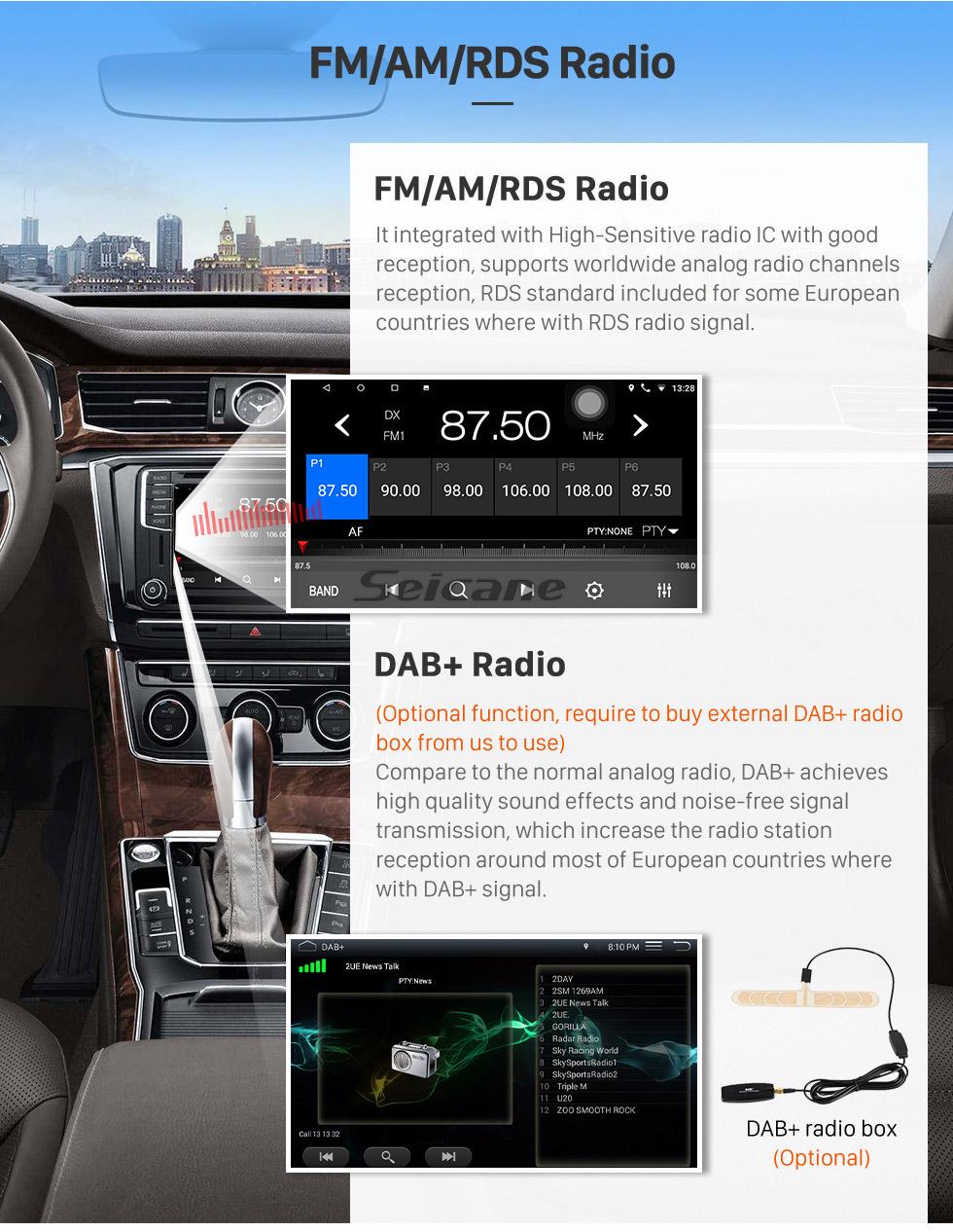 Seicane 10,1-дюймовый Android 8.1 HD с сенсорным экраном GPS-навигация Радио для Toyota RAV4 2019 с Bluetooth USB WIFI AUX поддержка Carplay Задняя камера OBD TPMS