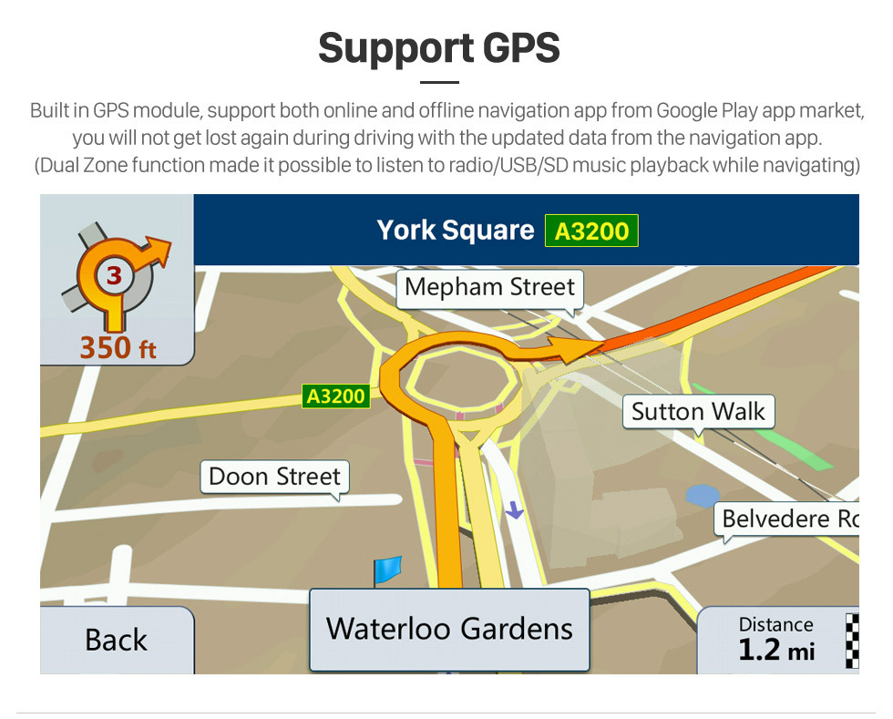 Seicane OEM 9 pulgadas Android 8.1 Radio para 2004-2006 Volvo S80 Bluetooth Wifi HD Pantalla táctil Navegación GPS USB AUX soporte Carplay DVR OBD TV digital