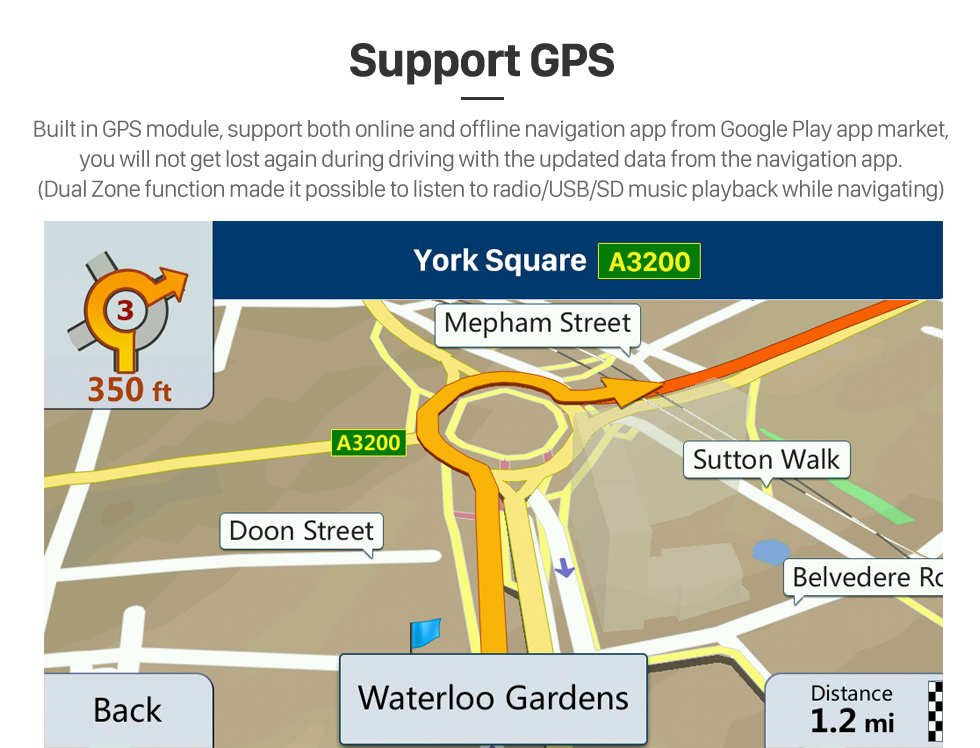Seicane 8-Zoll-Android-8.1-Radio für Opel Corsa / 2013-2016 Opel Adam Bluetooth HD Touchscreen GPS Navigation AUX unterstützt Carplay-Backup-Kamera DVR