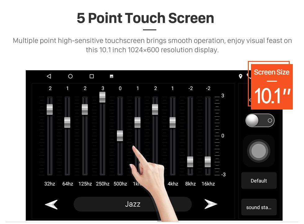 Seicane 10.1 pulgadas HD con pantalla táctil Android 8.1 GPS Radio para 2018-2019 Toyota Camry LHD con soporte Bluetooth AUX Control de volante Carplay
