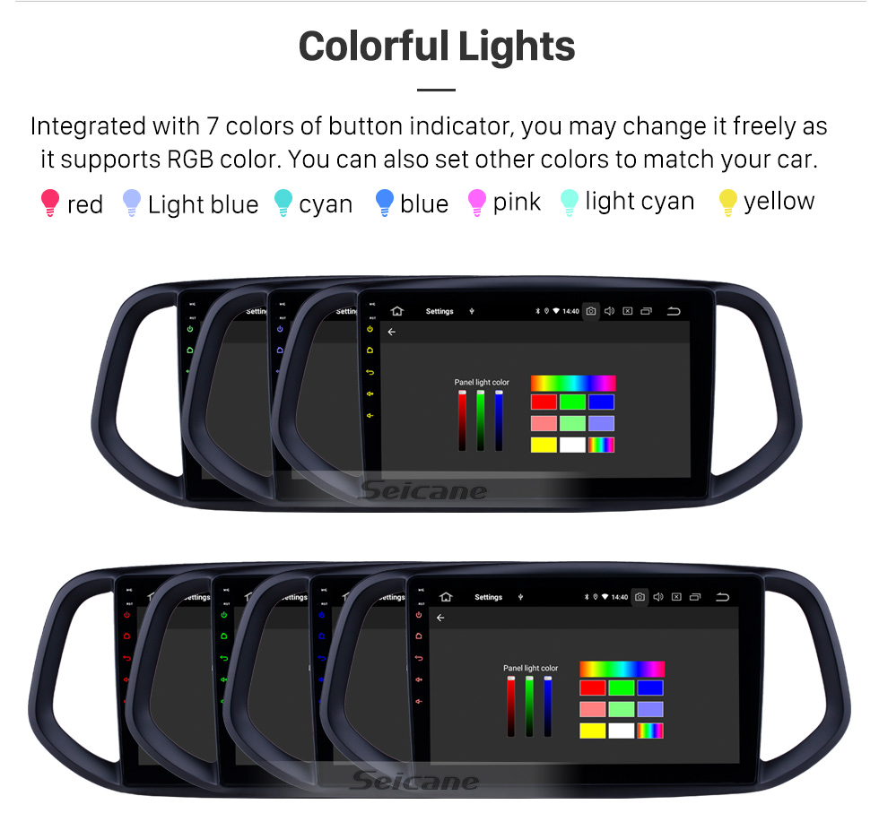 Seicane 10,1 pouces Android 9.0 Radio de navigation GPS pour 2014 2015 2016 2017 Kia KX3 Bluetooth Wifi HD Écran tactile Musique Carplay soutien caméra de recul 1080P