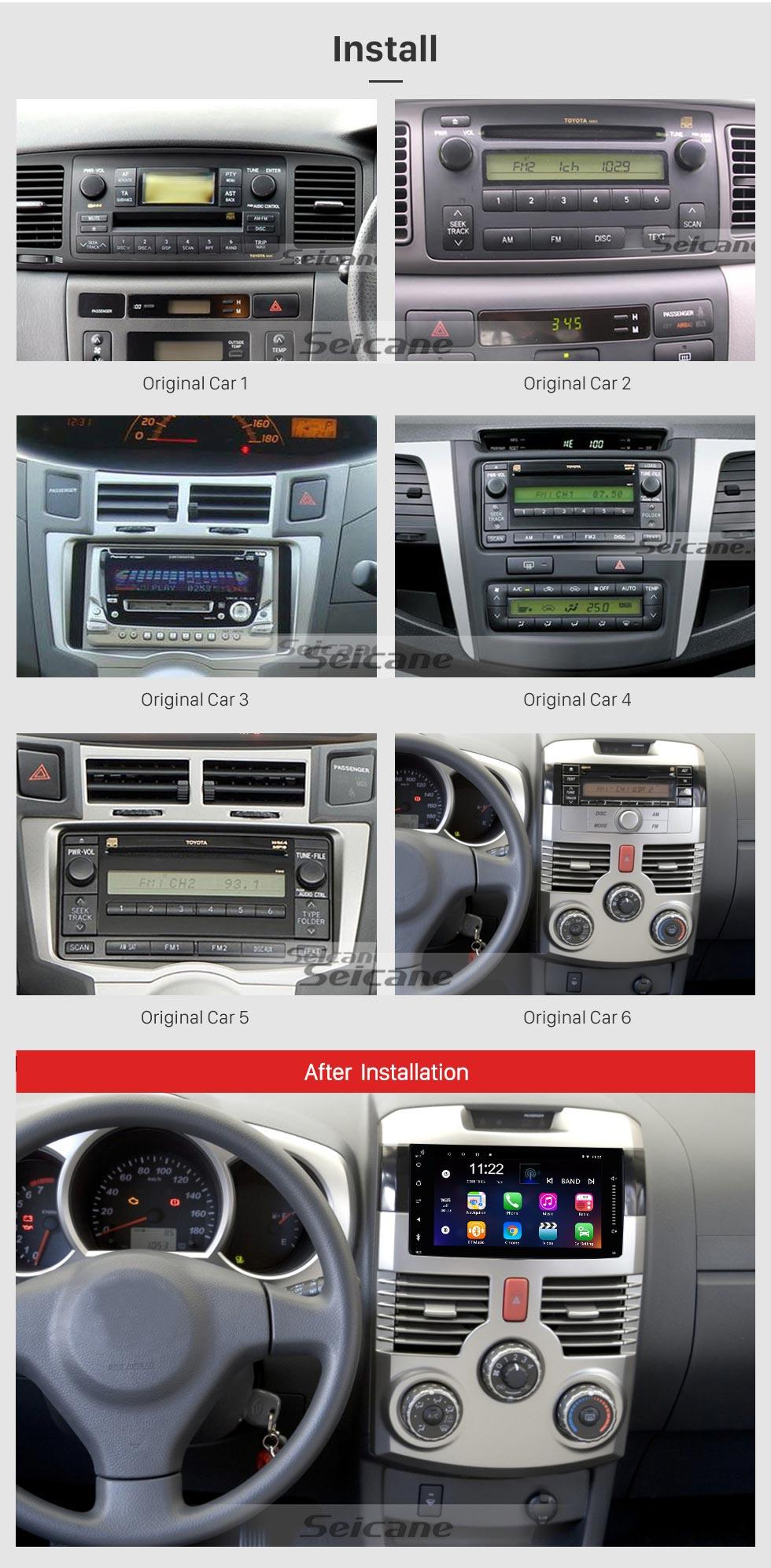 Seicane 7 inch Android 8.1  TOYOTA Corolla universal HD Touchscreen Radio GPS Navigation System Support Bluetooth USB Carplay OBD2 DAB+ DVR