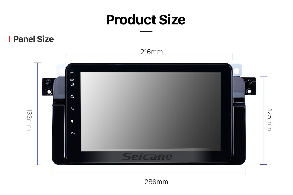 Seicane 8 inch 1998-2006 BMW 3 Series E46 M3 Android 8.1 GPS Navigation Radio Bluetooth HD Touchscreen AUX Music support Digital TV Carplay OBD2