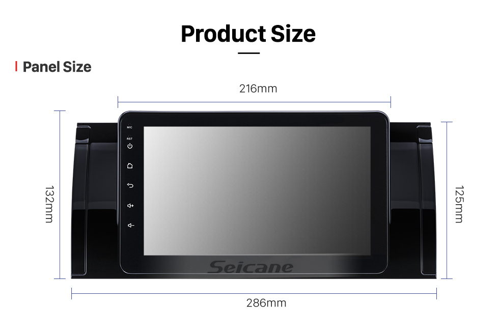 Seicane 8 inch Android 8.1 2000-2007 BMW X5 E53 GPS Navigation Radio with Touchscreen Bluetooth AUX WIFI Music support OBD2 DVR Mirror Link Carplay TPMS
