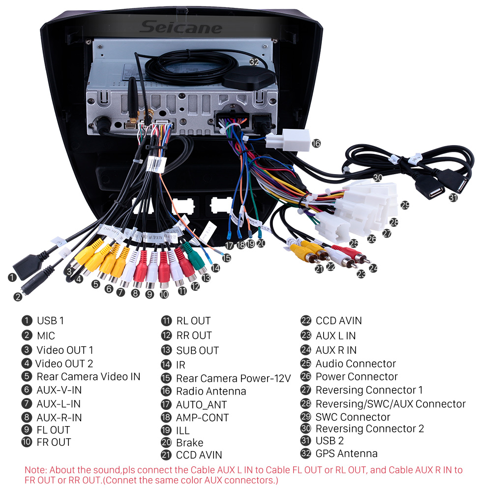 Seicane 10,1-дюймовый Android 9.0 2005-2014 Toyota Aygo GPS-навигатор с сенсорным экраном Carplay Bluetooth Музыка USB AUX с поддержкой OBD2 DVR DAB + TPMS
