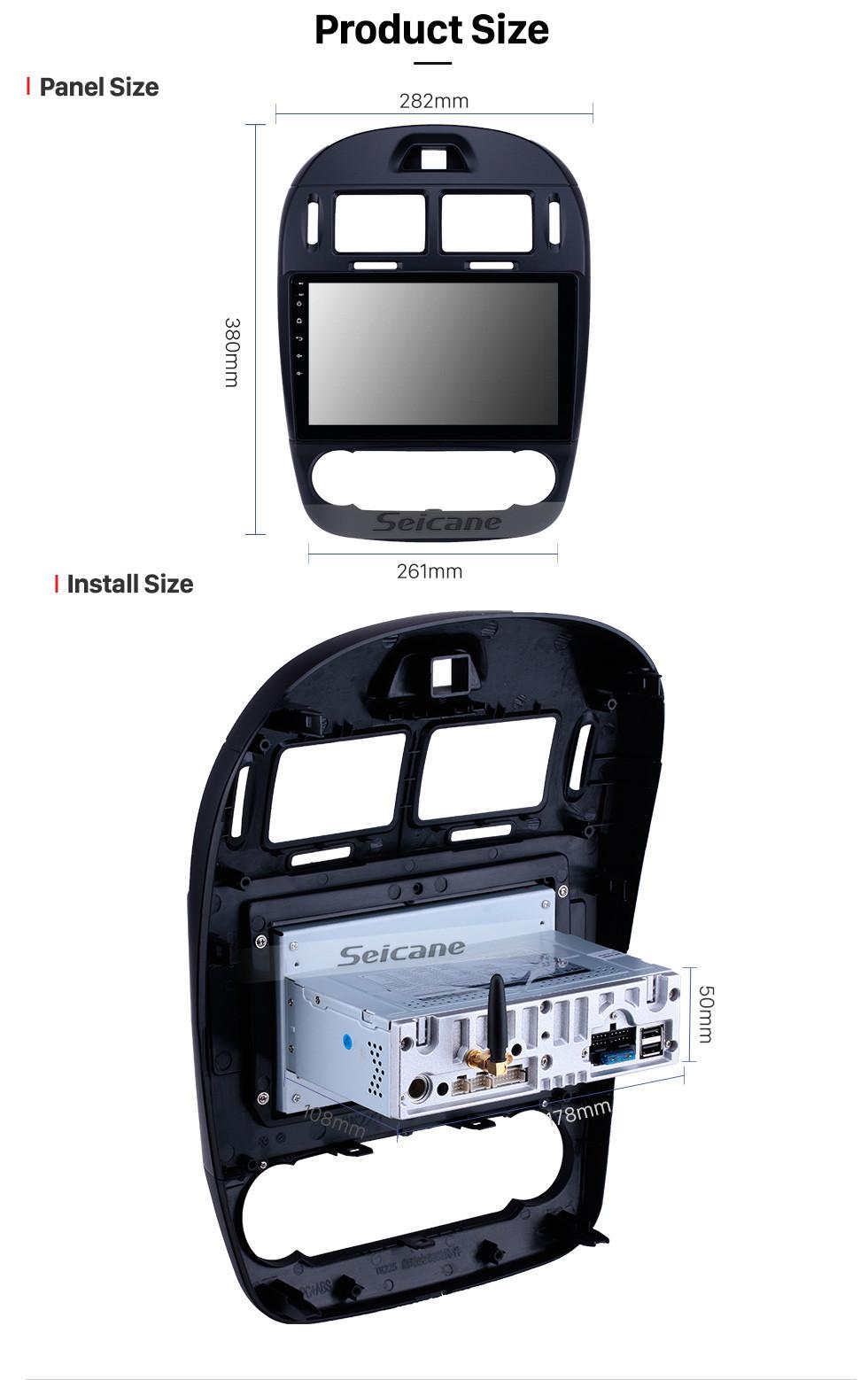 Seicane 10,1 zoll Android 9.0 Radio für 2017-2019 Kia Cerato Auto A / C Bluetooth Wifi HD Touchscreen GPS Navigation Carplay USB unterstützung DVR OBD2 Rückfahrkamera