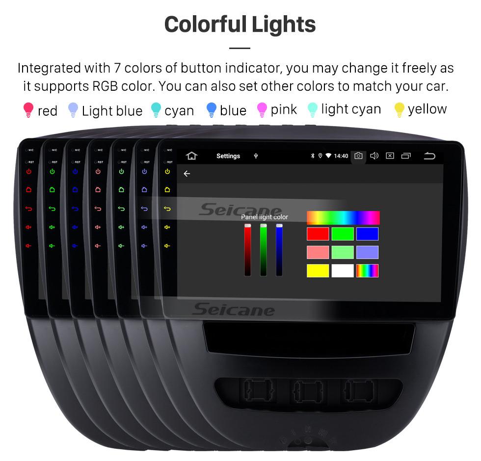 Seicane 10.1 pulgadas Android 9.0 Radio de navegación GPS para 2005-2014 Citroen Bluetooth Wifi HD Pantalla táctil Música Soporte de Carplay Cámara de respaldo 1080P Video