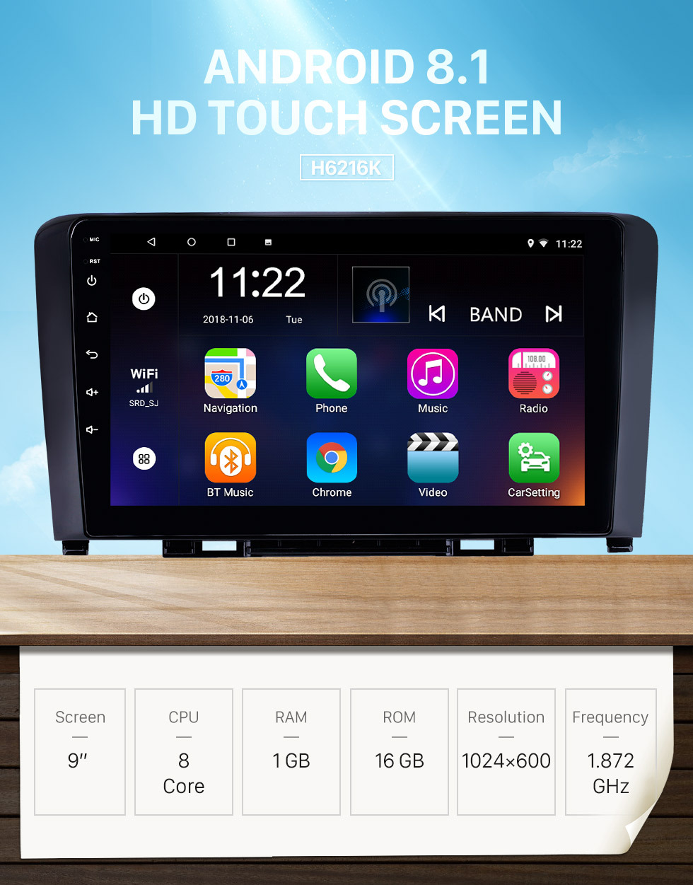 Seicane 2011-2016 Great Wall Haval H6 9 pulgadas Android 8.1 HD Pantalla táctil Bluetooth GPS Navegación Radio USB AUX soporte Carplay 3G WIFI Espejo Enlace TPMS