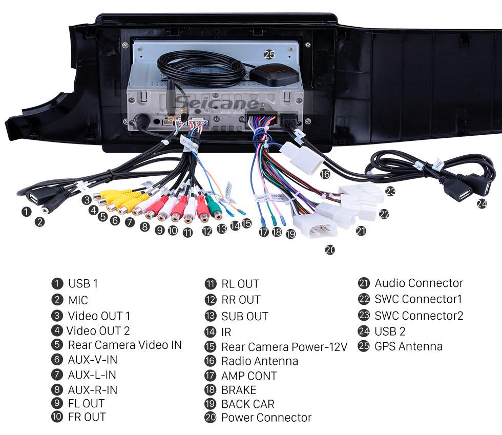 Seicane 10,1 zoll Android 9.0 Radio für 2016-2019 Perodua Bezza Bluetooth HD Touchscreen GPS Navigation Carplay USB unterstützung TPMS OBD2 Digital TV