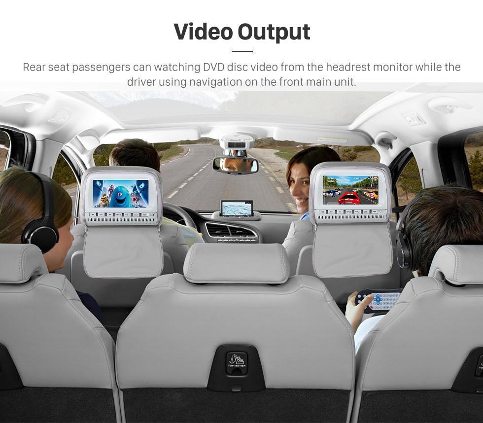 Seicane OEM 9.7 pulgadas Android 9.1 2007-2012 Kia Carens Auto A / C GPS Radio de navegación con pantalla táctil Bluetooth USB AUX WIFI compatible TPMS TV digital Carplay