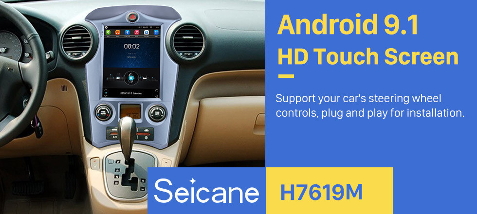 Seicane OEM 9.7 inch Android 9.1 2007-2012 Kia Carens Auto A/C GPS Navigation Radio with Touchscreen Bluetooth USB AUX WIFI support TPMS Digital TV Carplay