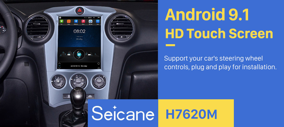 Seicane 2007-2012 Kia Carens Manual A/C 9.7 inch Android 9.1 GPS Navigation Radio with Touchscreen Bluetooth USB WIFI support Carplay Mirror Link 4G