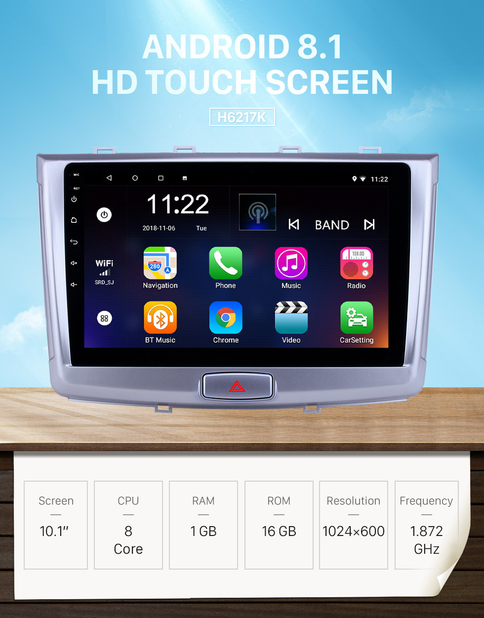 Seicane 10.1 inch Android 8.1 HD Touchscreen GPS Navigation Radio for 2017 Great Wall Haval H6 with Bluetooth USB WIFI AUX support Carplay SWC Mirror Link