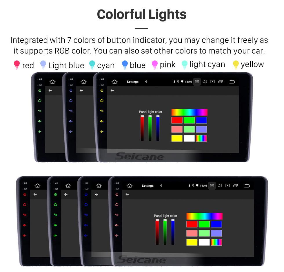 Seicane Android 9.0 9 pulgadas Radio de navegación GPS para 2015 Mahindra Marazzo con pantalla táctil HD Carplay Bluetooth WIFI compatible con TPMS TV digital