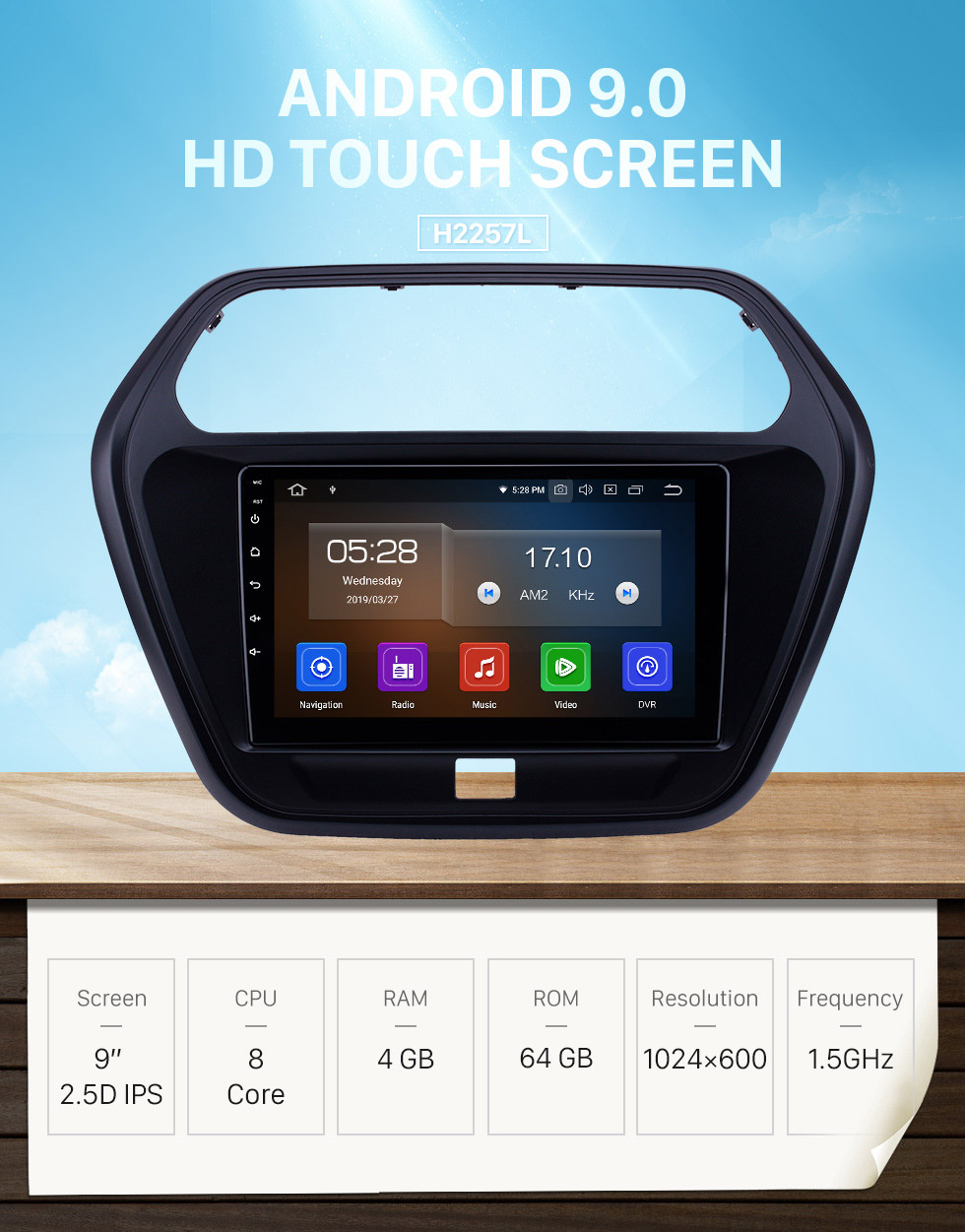 Seicane Android 9.0 9 inch GPS Navigation Radio for 2015 Mahindra TUV300 with HD Touchscreen Carplay Bluetooth WIFI AUX support Mirror Link OBD2 SWC