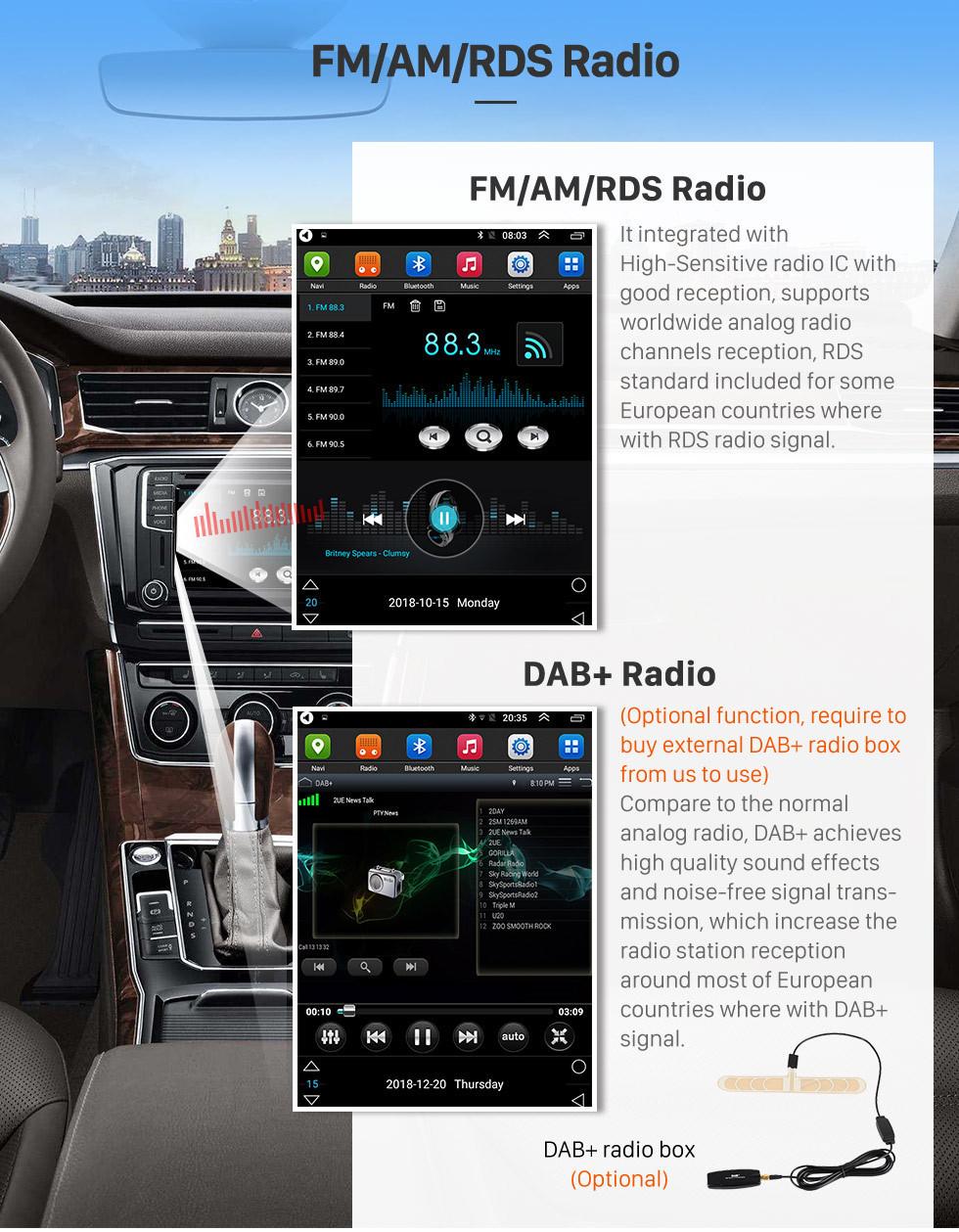 Seicane Pantalla táctil HD 2015 chevy Chevrolet Cruze Android 9.1 9.7 pulgadas Radio de navegación GPS Bluetooth WIFI soporte DAB + Control del volante Carplay