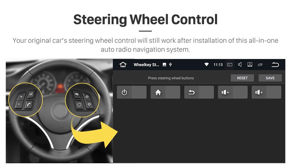 Seicane 2010 2011 Seat Alhambra Android 9.0 GPS-навигатор Автомобильный DVD-плеер с 3G Wi-Fi Зеркальная ссылка Резервная камера OBD2 DVR HD с сенсорным экраном Управление рулевого колеса Bluetooth