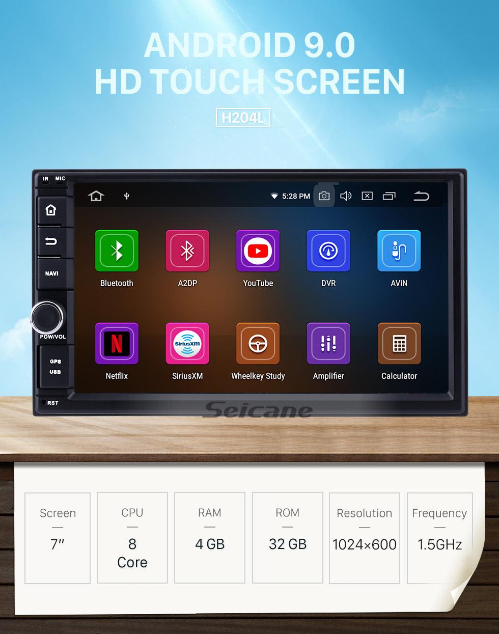 Seicane Venta caliente Android 9.0 2005-2011 Kia rio Navegación GPS Car Audio Pantalla táctil AM Radio FM Música Bluetooth 3G WiFi OBD2 Mirror Link AUX Cámara de respaldo USB SD 1080P Video