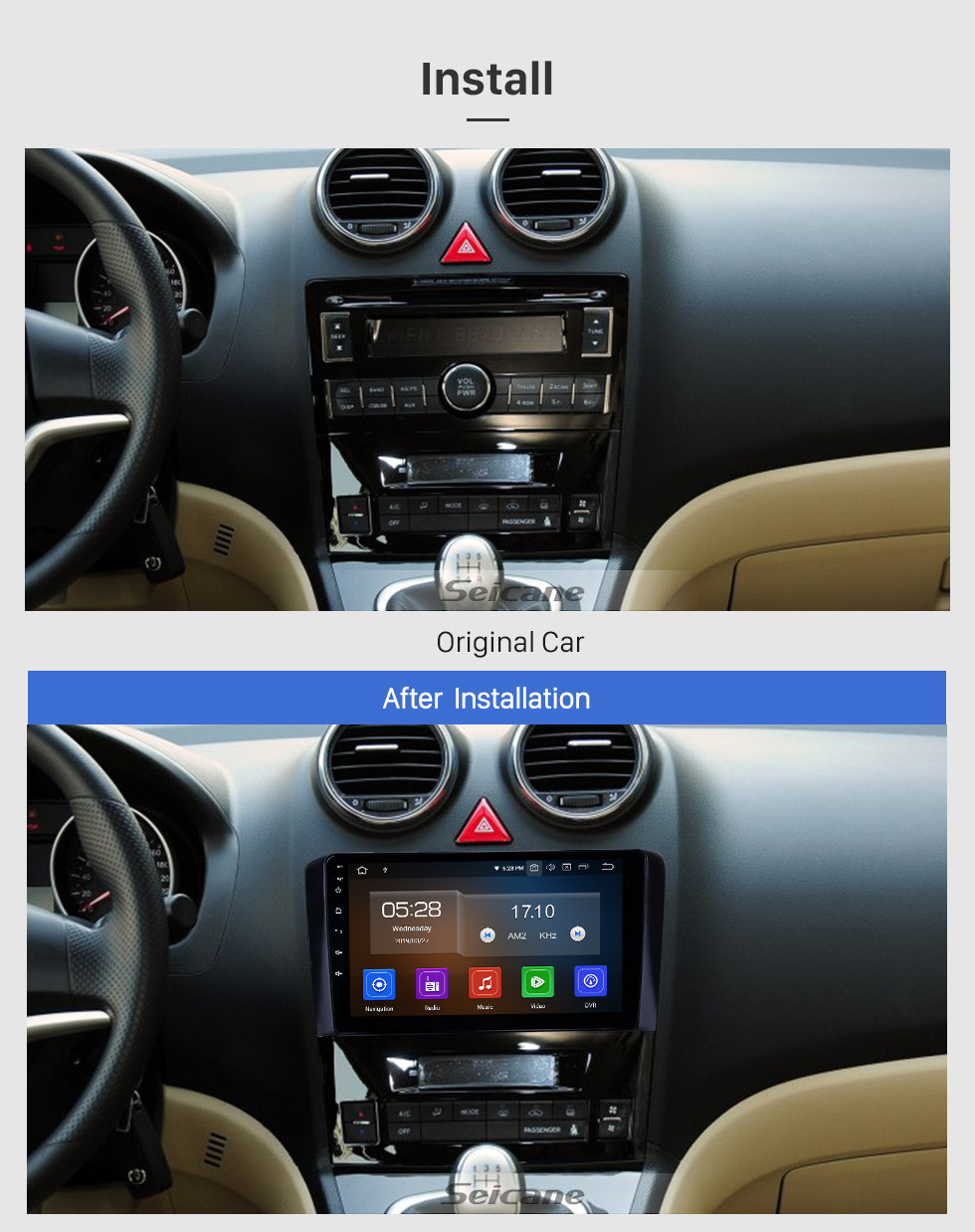 Seicane Android 9.0 9 polegada GPS Rádio de Navegação para 2011-2016 Great Wall Haval H6 com HD Touchscreen Carplay Bluetooth WIFI AUX apoio TPMS TV Digital