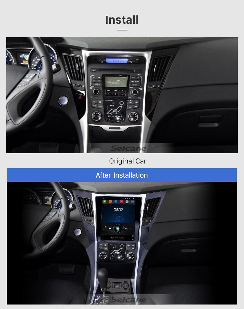Seicane HD Touchscreen 2011-2015 Hyundai Sonata Android 9.1 9.7 inch GPS Navigation Radio Bluetooth WIFI support DAB+ Steering Wheel Control Carplay