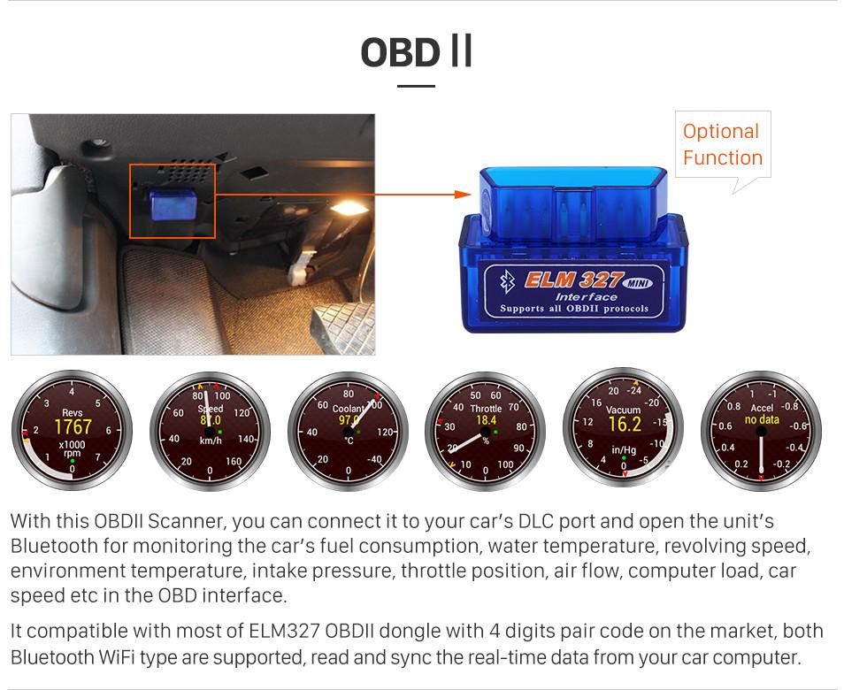 Seicane Tela Sensível Ao Toque de 9 polegada 2006-2014 MITSUBISHI Outlander Android 8.1 Rádio sistema de Navegação GPS Bluetooth com suporte WIFI OBD2 DVR câmera de Backup