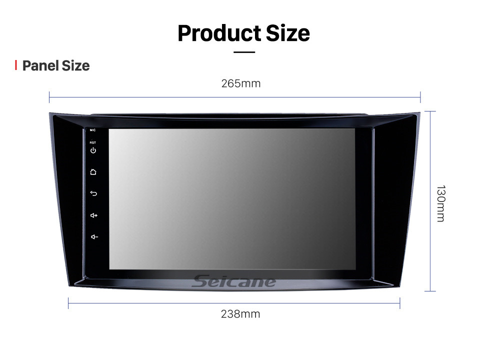 Seicane 8 inch Android 8.1 HD Touchscreen GPS Navigation Radio for 2001-2010 Mercedes Benz E-Class W211/CLS W219/CLK W209/G-Class W463 with Bluetooth WIFI AUX support Carplay Mirror Link