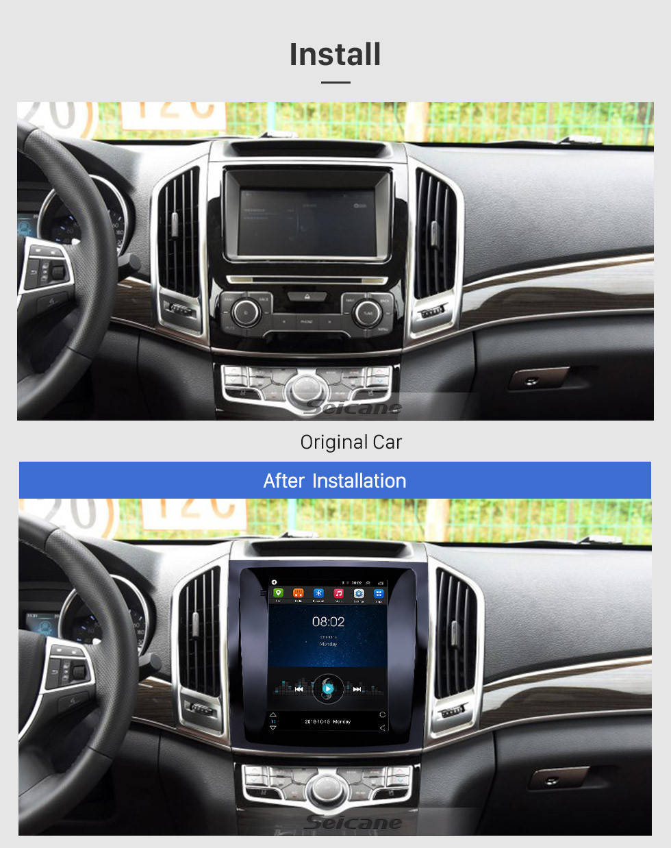 Seicane OEM 9.7 inch Android 9.1 2015-2017 Great Wall Haval H9 GPS Navigation Radio with Touchscreen Bluetooth WIFI support TPMS Carplay DAB+