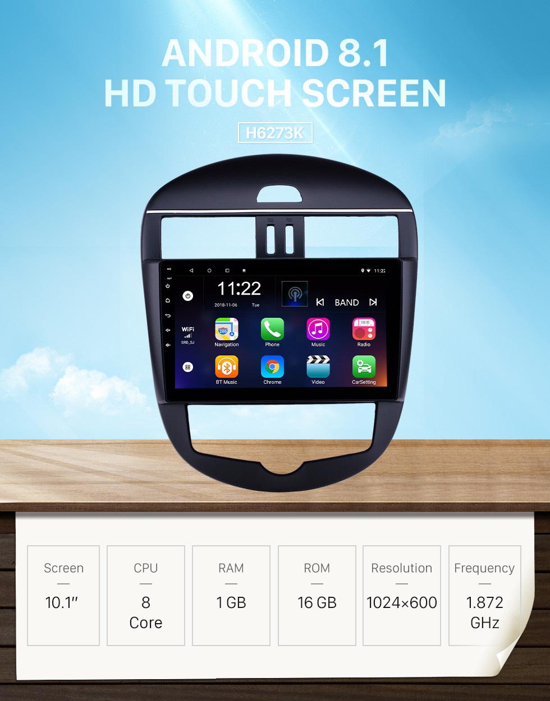 Seicane 10,1 Zoll Android 8.1 Radio für 2011-2014 Nissan Tiida Auto A / C Bluetooth WIFI HD Touchscreen GPS-Navigationsunterstützung Carplay Rückfahrkamera