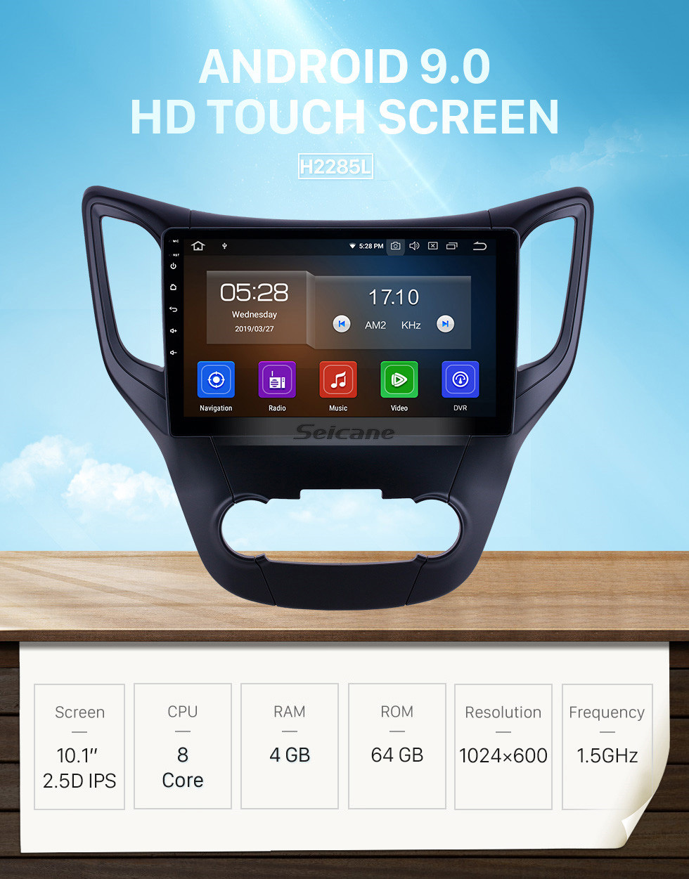 Seicane 10.1 inch Android 9.0 Radio for 2012-2016 Changan CS35 Bluetooth HD Touchscreen GPS Navigation Carplay USB support OBD2 Backup camera