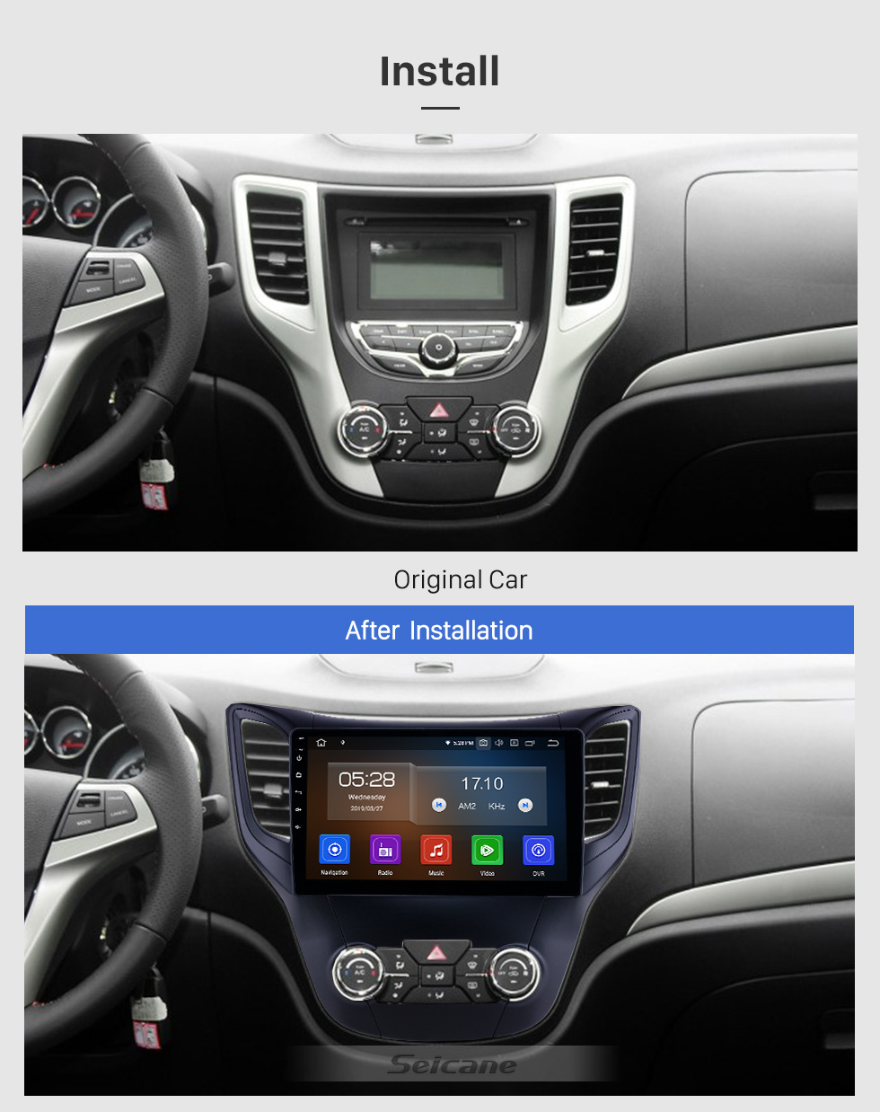 Seicane 10,1 pouces 2012-2016 Changan CS35 Android 9.0 Radio de navigation GPS Bluetooth HD à écran tactile AUX USB support Carplay Miroir Lien