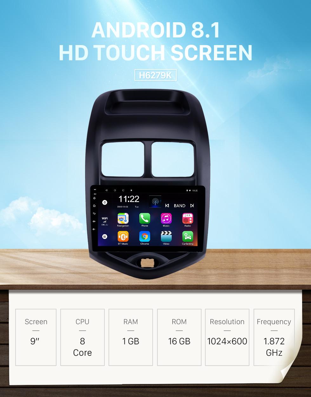 Seicane OEM 9 pulgadas Android 8.1 Radio para 2014-2018 Changan Benni Bluetooth WIFI HD Pantalla táctil con soporte de navegación GPS Carplay DVR Cámara trasera
