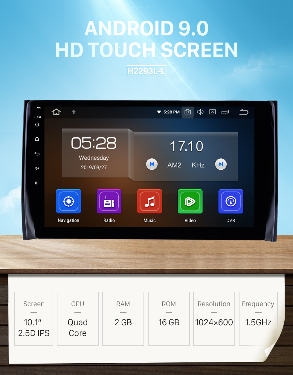 Seicane 10.1 inch Android 9.0 GPS Navigation Radio for 2017-2018 Skoda Diack Bluetooth HD Touchscreen Carplay USB support DAB+ TPMS