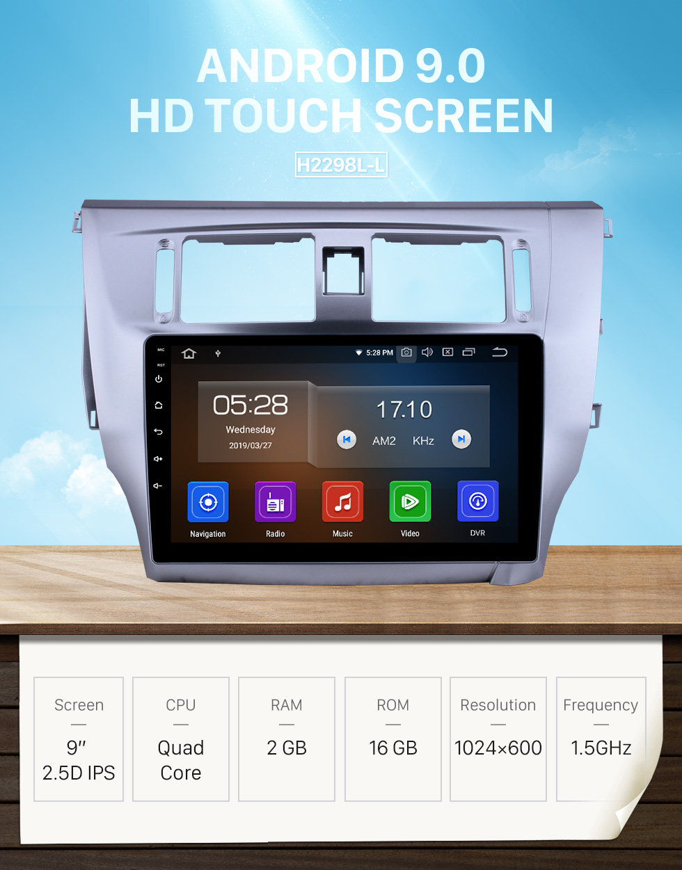 Seicane Pantalla táctil HD 2013 2014 2015 Great Wall C30 Android 9.0 9 pulgadas Navegación GPS Radio Bluetooth Carplay compatible Control del volante