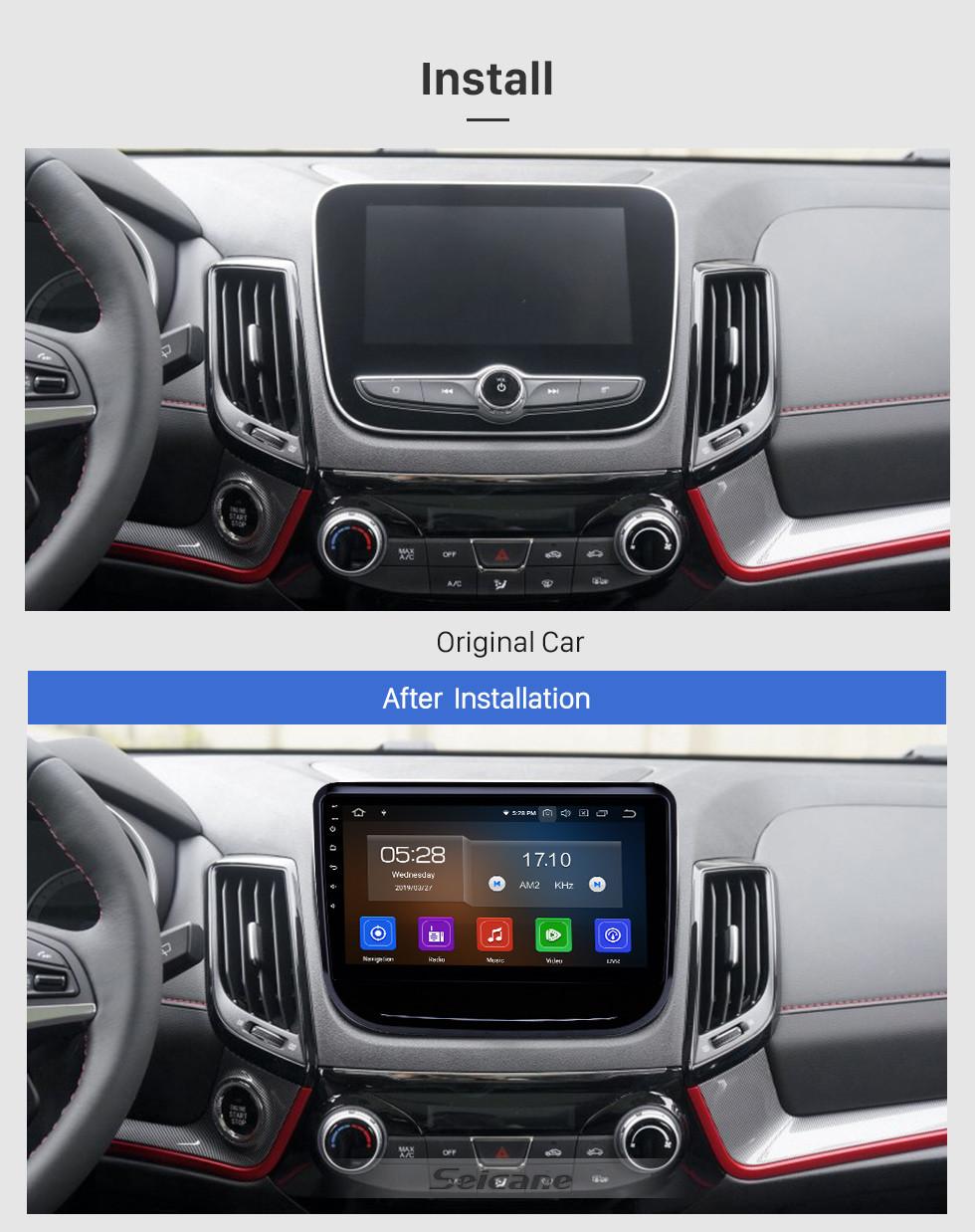 Seicane 10,1 zoll Android 9.0 Radio für 2017-2018 Changan CS55 Bluetooth Touchscreen GPS Navigation Carplay USB AUX unterstützung TPMS DAB + SWC