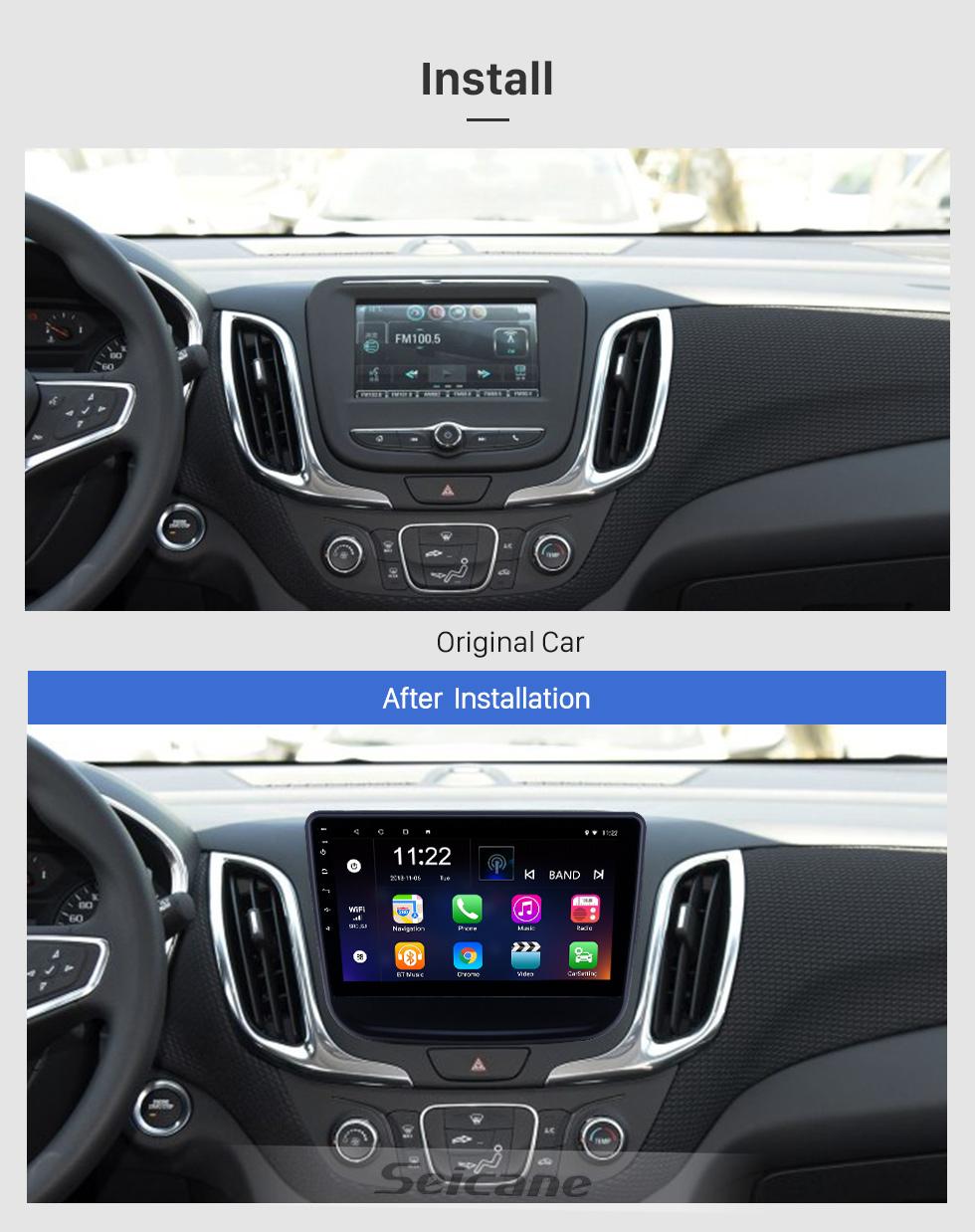 Seicane 10,1 Zoll Android 8.1 GPS-Navigationsradio für 2016-2018 Chevrolet Equinox mit HD-Touchscreen Bluetooth USB-Unterstützung Carplay TPMS